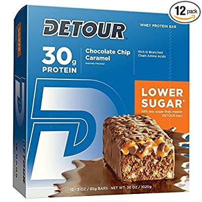 Detour Lower Sugar Protein Bars, Chocolate Chip Caramel
