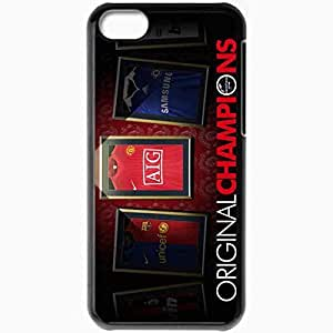 Personalized iPhone 5C Cell phone Case/Cover Skin Original Champions Manchester United Football Black