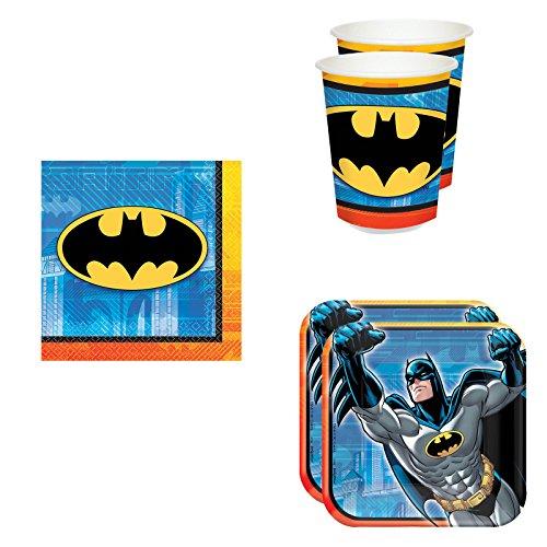 Batman Party Pack Set Plates, Cups, Napkins (16 guests) -