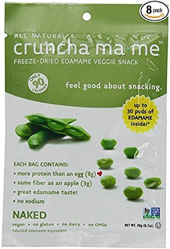 Eda-Zen Cruncha ma-me Edamame Veggie Snack, Naked, 0.7 Ounce (Pack of 8)