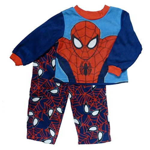 Marvel Comics Spiderman Infant Toddler Boy Fleece Sleepwear Set Plush Pajama 5T