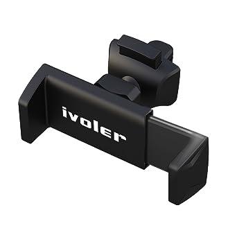 Autom/ático Ajustable Gravedad Soporte para M/óviles Dispositivo GPS Anchura de 6,5 cm a 9,2 cm iVoler Soporte M/óvil Coche Universal para Rejillas del Aire Rotaci/ón de 360 Grados Negro