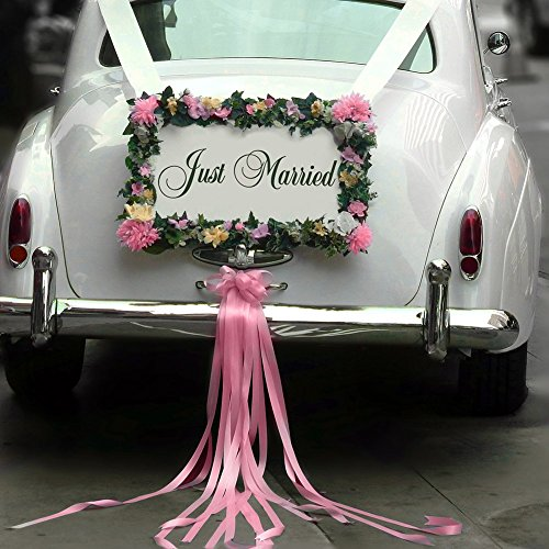 Wooden Just Married Wedding Car Decoration Sign,Wedding Photo Prop ,White