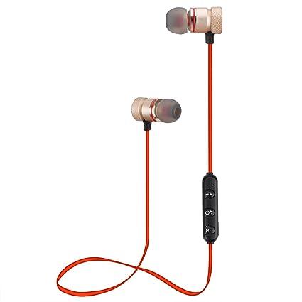 Alfort Auriculares Bluetooth, Auricular In-Ear Deportivos con Magnética y Micrófono para iPhone X