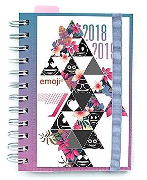 Grupo Erik Editores Emoji- Agenda escolar 2018-2019 día página multilingüe, 11.4 x 16 cm