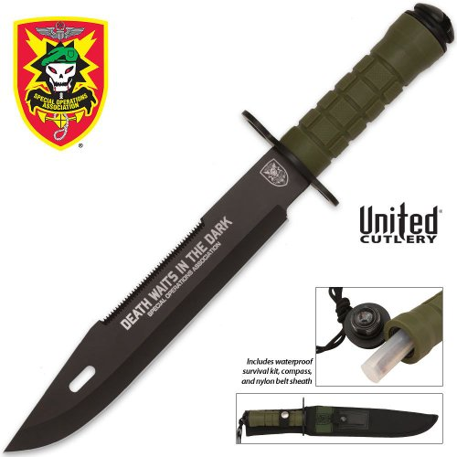 United Cutlery SOA Death in the Dark Survival Knife, Outdoor Stuffs