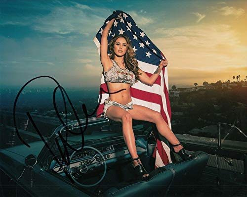 (BRITTNEY PALMER signed (UFC) Sexy Hot Ringcard Girl 8X10 photo *PROOF* W/COA #5 - Autographed UFC Photos)