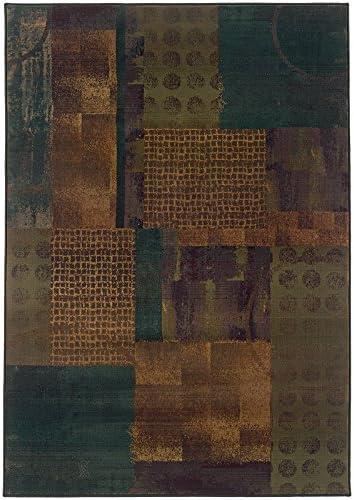 Oriental Weavers Kharma-II 703×4 Area Rug, 9 9 x 12 2 , Blue