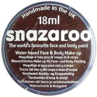 SNAZAROO 18ML Dark Brown Classic FACE PAINT PAINTING MAKEUP - 18 Ml Palette
