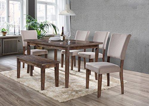 Best Master Furniture Mindy Rectangular 6 Pcs Dining Set