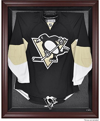 Pittsburgh Penguins Mahogany Framed Logo Jersey Display Case