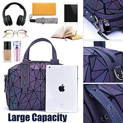 75e3f0adebb Geometric Handbag Luminous Women Tote Bag Holographich Purses and ...