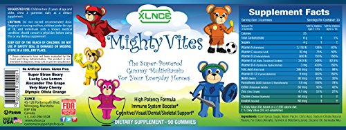MIGHTY VITES Kids Complete Gummy Vitamins: Multivitamin Rich in Vitamin A & D - Boosts Immune System, Mental/Physical Condition, Combats Nutrient Deficiency & Stress in Children, Teens & Toddlers.