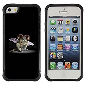 Be-Star Unique Pattern Anti-Skid Hybrid Impact Shockproof Case Cover For Apple iPhone 5C ( Rodent Bat Horns Fictional Creature Biotechnology ) Kimberly Kurzendoerfer