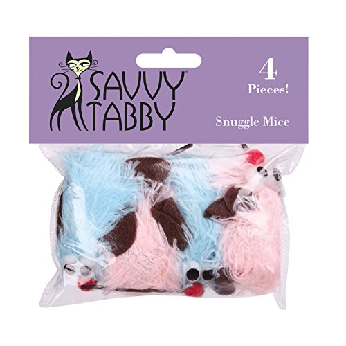 - Savvy Tabby Snuggle Mice Cat Toys, 4-Packs