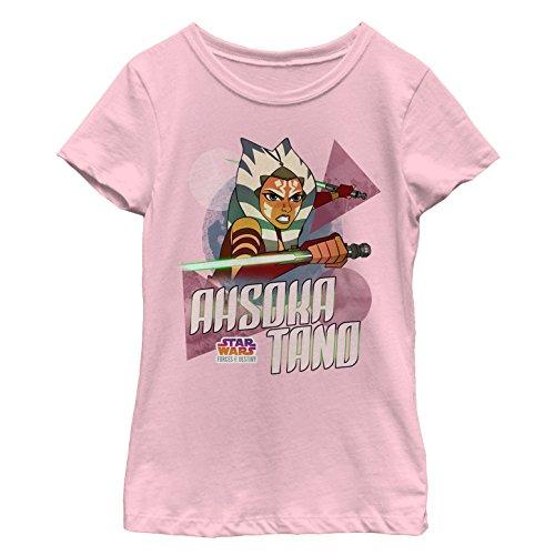 Fifth Sun Star Wars Forces Of Destiny Girls' Ahsoka Light Pink T-Shirt