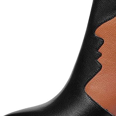 ZQZQ Leder, Mode, Füßlinge, Spitz, Reißverschluss