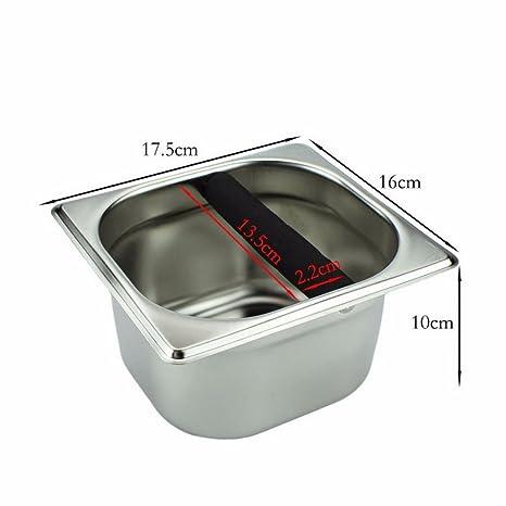 Café Knock box-nacola? Acero inoxidable herramienta recipiente para posos de café cafetera cubo