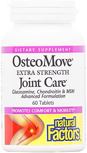 Natural Factors, OsteoMove Extra Strength Joint Care, Supports Healthy Muscles and Cartilage with Glucosamine, Chondroitin and MSM, 60 Tablets (30 Servings)