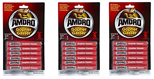 Amdro Gopher Gasser Contains18 Gassers 0.75oz