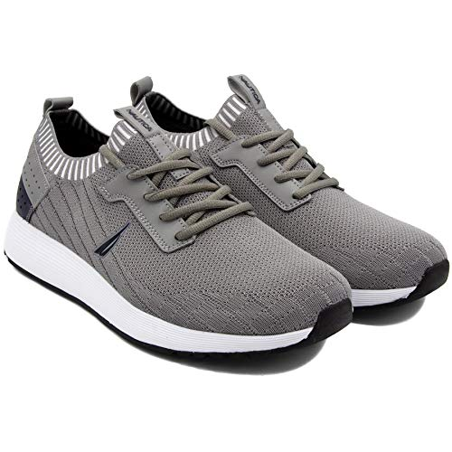 Nautica Men's Casual Fashion Sneakers-Walking Shoes-Lightweight Joggers-Rembold-Grey Knit-10