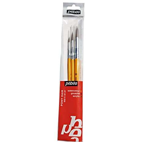 Pebeo Artists Brush Set of 8 for Acrylic and Decorative Painting
