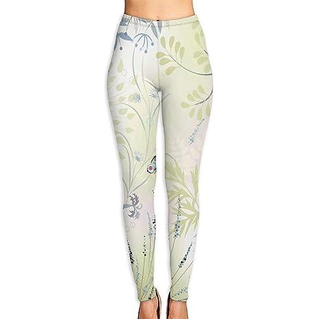 Amazon.com : KUAAAKE Yoga Pants Wild Herbs and Butterfly ...