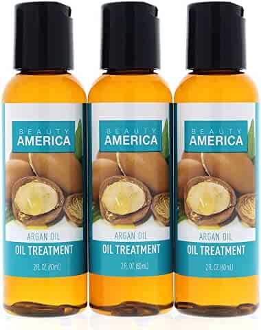 Beauty America Argan Oil From Morocco Hair Oil Treatment, 3 pack