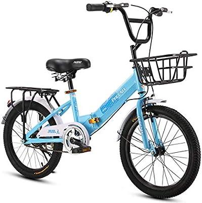 bxbx Bicicleta para niños Bicicleta Plegable de 20 Pulgadas, Sillín cómodo, Pedal Antideslizante, Freno Seguro y Sensible, Bicicleta portátil para Estudiantes: Amazon.es: Deportes y aire libre