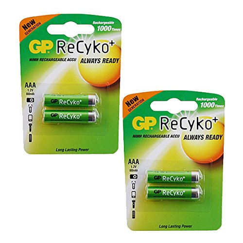 Kodak Advantix 1600 Auto AAA NiMH Rechargeable GP Battery - 4pk