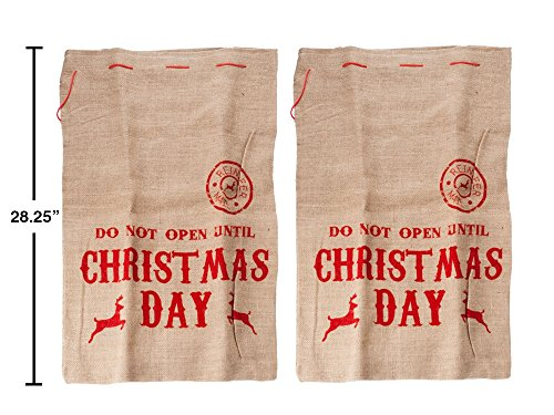 Set of Christmas Santa Reindeer Mail Sacks-2 Pack