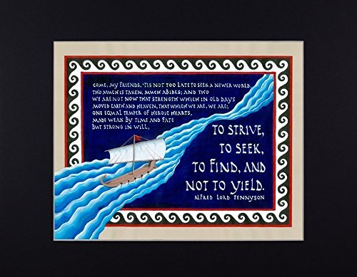 Alfred Lord Tennyson Quote from Ulysses Fine Art Print Reproduction