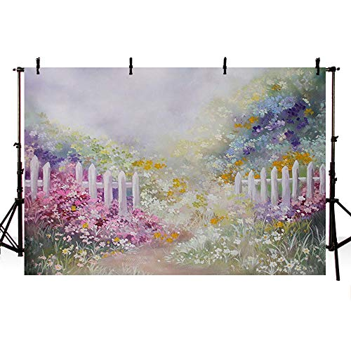 COMOPHOTO COMOPHOTO 7x5ft Floral Photography Backdrop Newborn Photo Studio Background Baby Floral Backdrops for Photo Booth Oil Painting Print - Painting Oil Background