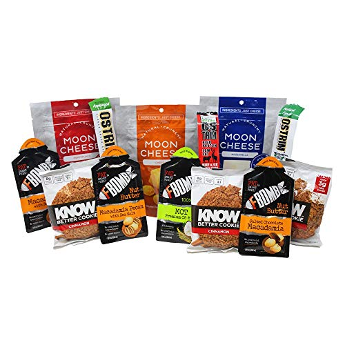 Keto-Friendly Box from Surge Crate - Moon Cheese, F-Bomb Nut Butter, Ostrim Meat Snacks, Know Better Foods