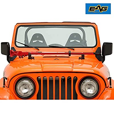 EAG Jack Mount Hood Bracket Fit for Jeep Wrangler CJ 1976-1986 YJ 1987-1995 TJ 1997-2006: Automotive