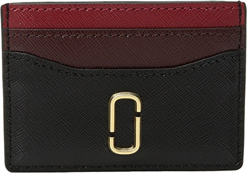 Marc Jacobs Women's Snapshot Card Case, Black/Chianti, One Size