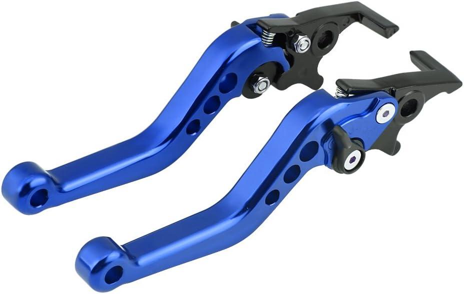 Roller E-Bike Blau Doppelscheibenbremshebel 1 Paar 4 Farben Universal CNC Aluminiumlegierung Motorrad Modifikation Doppelscheibenbremshebel f/ür Motorr/äder