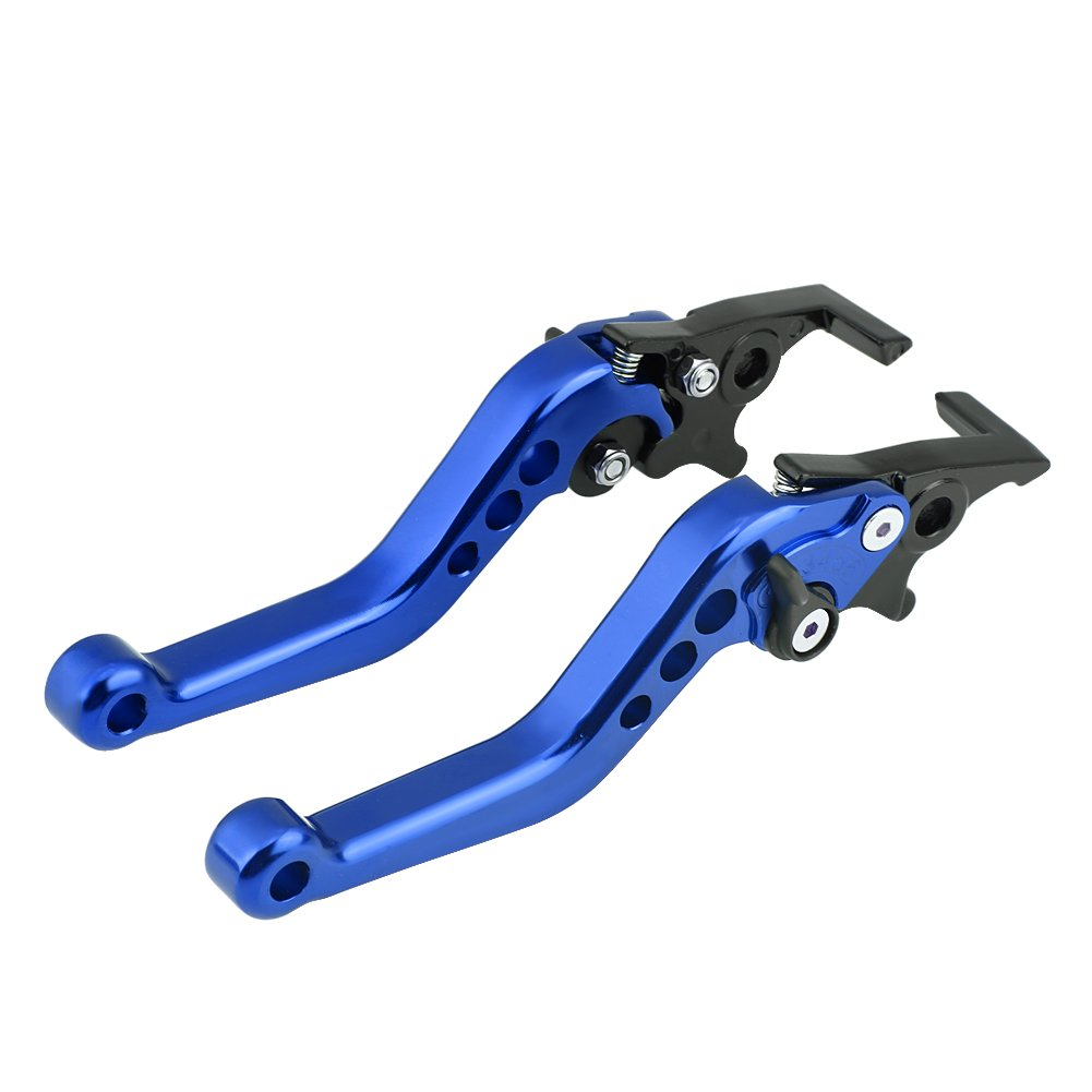 Rojo Qiilu 1 Pair CNC Aluminum Alloy Motorcycle Scooter Modification Double Disc Brake Lever Universal