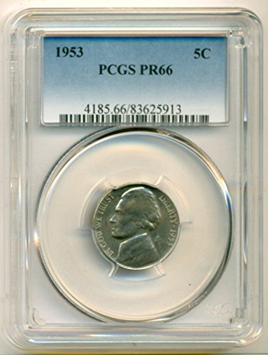 1953 Jefferson Proof Nickel PR66 PCGS