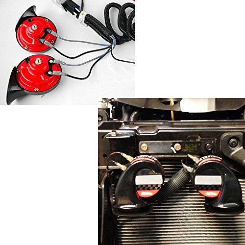 12V Horn Wiring Harness Relay Kit Car Grille Mount Blast Tone Horns for SUZUKI