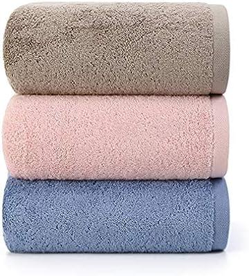 JASONN Toallas de Primera Calidad, Toalla de baño de Lujo, 100% algodón Suave, Paquete de 3, Muy Suave y Absorbente, Peso Pesado 500G para el Lujo Diario, ...