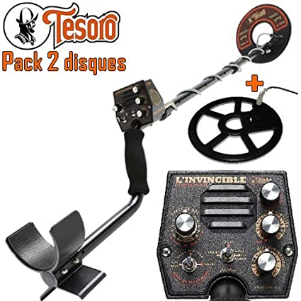 Tesoro-Detector De metales Invincible Pro incluye 1 disco diámetro 20 Cm y 1 disco