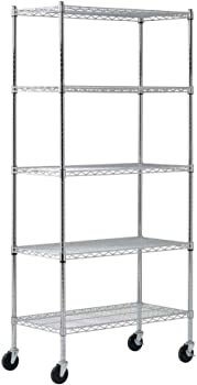 Sandusky MWS361872 5-Tier Mobile Wire Shelving Unit