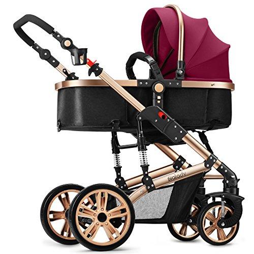 QXMEI Cochecito De Bebé Aleación De Aluminio de 1 A 3 Años De Edad El Bebé Puede Acostarse Y Sentarse Y Doblar En Dos...