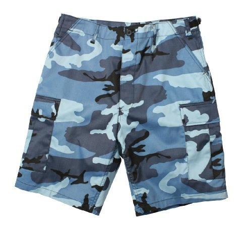 Sky Blue Camo Military Shorts