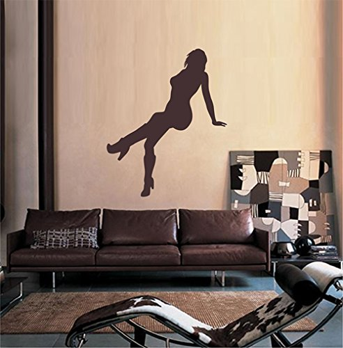 Hall Silhouette - ik2369 Wall Decal Sticker sexy silhouette girl sitting hall bedroom