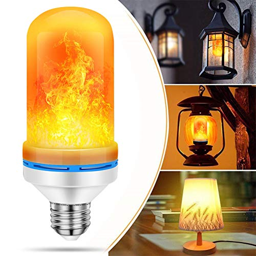 PHILWIN LED Flame Light Bulb Simulated Burn Fire Effect Xmas 4 Modes Flicker Lamp E26 Atmosphere Decor Ative Lamp for Hotel/Bars/Home Decoration/Restaurants(1 Pack)