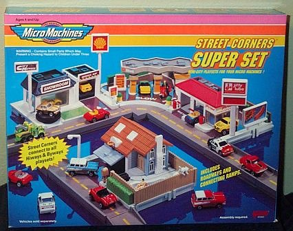 How Much Is An Oil Change At Jiffy Lube >> Street Corners Super Set Micro Machines Playset - Buy ...