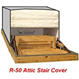 25x54 Attic Pull Down Stair Ladder Cover, R-50 Insulation