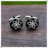 Atomic symbol Cufflinks Whirl groom and groomsmen